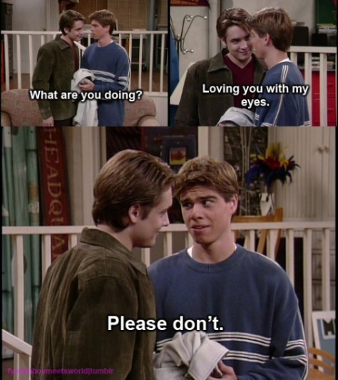 Flirting&FailingLoving WithEyesBoyMeetsWorld