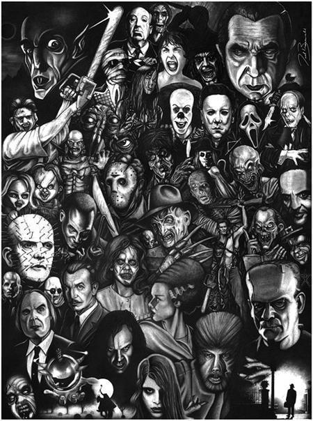 horror collage