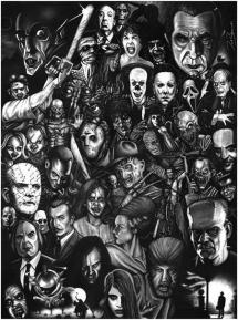 horror collage