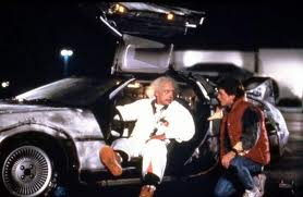 Back to the future Doc Marty Dolorean time machine