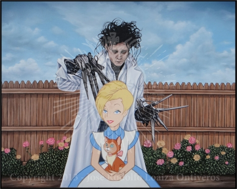 Edward Scissorhands in Wonderland