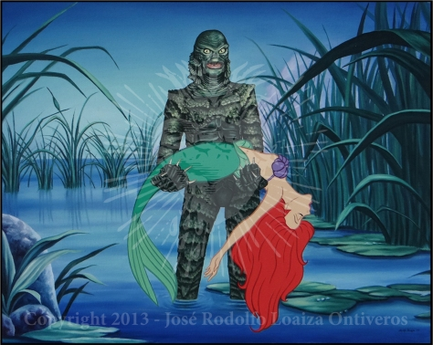 The Little Mermaid meets The Creature from the Black Lagoon