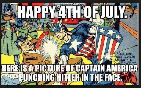 4th of july Captain America