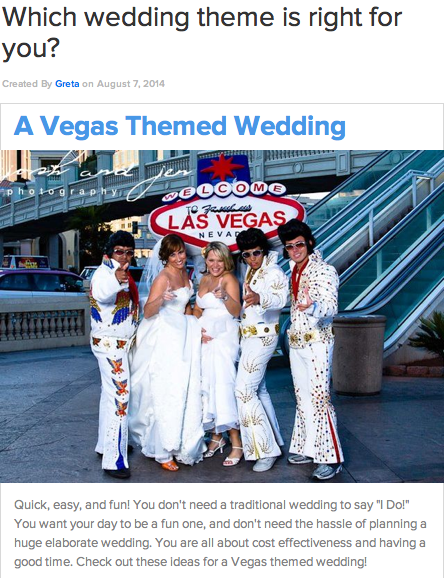 To see what your dream wedding is, go here.