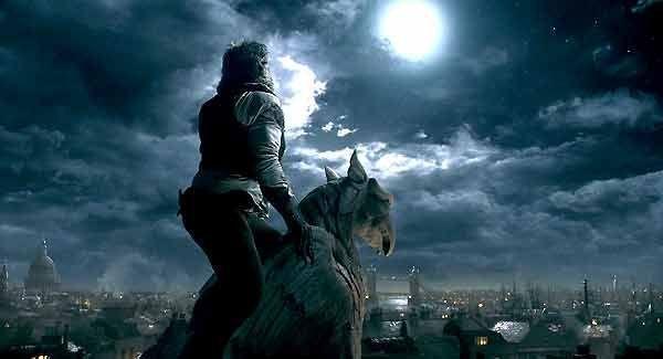 wolfman statue on tiop of werewolf