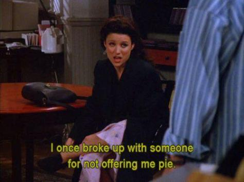 Seinfeld Break Up over Pie