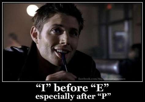 Supernatural Dean Wimchester Pie