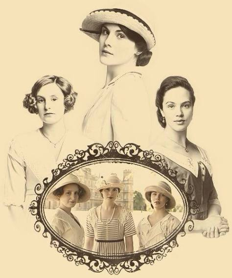 DowntonAbeyLadyMary,Edith,Sybil