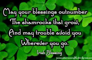 blessingsoutnumbershamrocksIrishbless