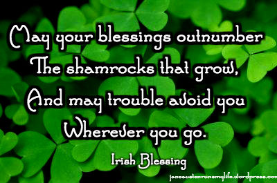 blessingsoutnumbershamrocksIrishbless