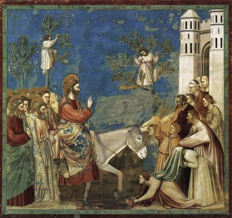 Jesus Enters Jerusalem by Giotto