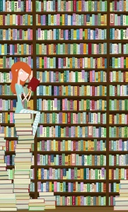 GirlWithBooksLibrary