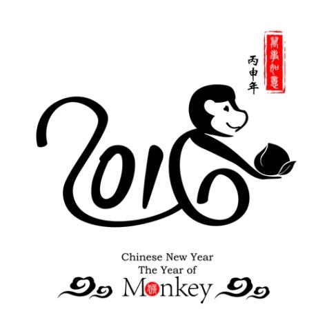 Chinese Calligraphy 2016Monkey