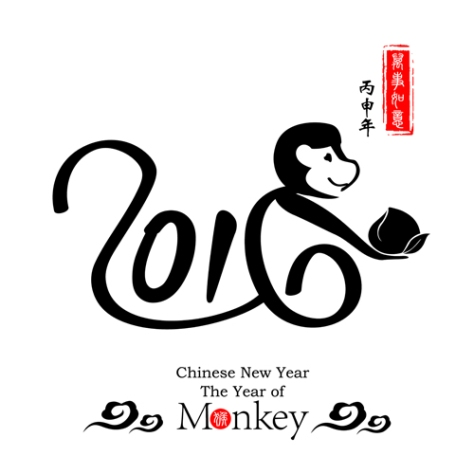 Chinese Calligraphy 2016Monkey